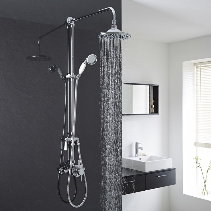 Thermostatic Dual Exposed Shower Valve With Grand Riser Rail Kit