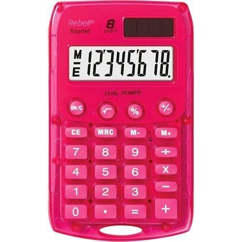 #Rebell_Starlet #napelemes_zsebszámológép 8 számjegyes, 3 év garancia! #Piros #Pink Ft Ár 1,490