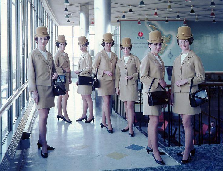 National Airways Corporation (NAC)- Air Hostess Uniform - 1959-1975. 1024×788 пикс