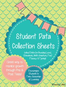 Students use these forms to self-monitor their academic progress throughout the year.  Each data sheet is broken into quarters (4 for each section) so that students can keep their data organized and it can correlate with quarterly grades.  These are fantastic artifacts to share at Parent-Teacher Conferences.