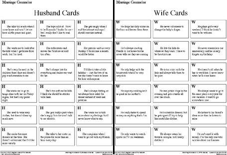 Marriage+Counseling+Worksheets | Students will be laughing so much that they'll forget that they are ...