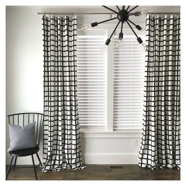 Attractive Liked On Polyvore Featuring Home, Home Decor, Window Treatments, Curtains,  Mid Century Curtains, Mid Century Modern Window Treatments, Black And White  ...