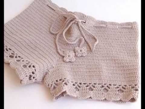 SHORT CHARME EM CROCHE - 2ª PARTE - YouTube