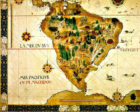 Mapa Antigo do Brasil  - Cartografia