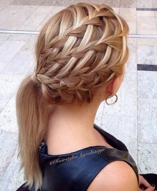 Braided Head Beautiful Hairstyles for Medium Hair