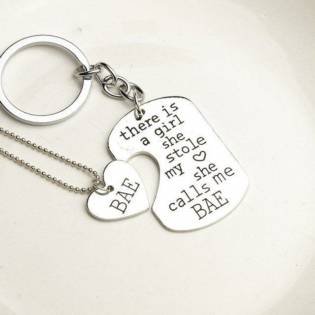 Stole my Heart Keychain with Matching Necklace - 2 Pcs – SnugFx