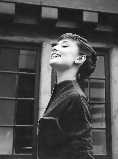 Audrey Hepburn on the Paramount lot. Photo by Bob Willoughby, 1953.