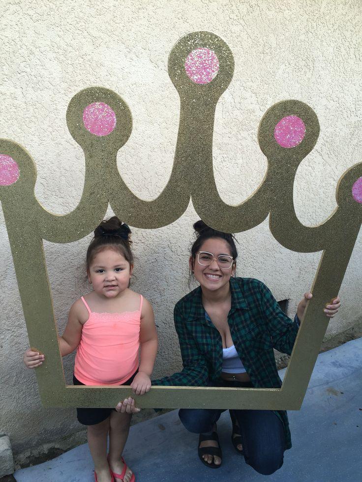 Princess crown selfie frame