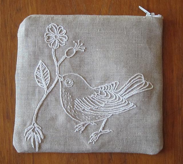 Bird Zip Pouch by hm1966, via Flickr
