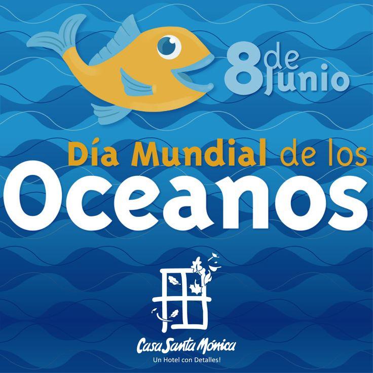 """""""Océanos sanos, un planeta sano""""  Los océanos son el corazón de nuestro planeta. De la misma forma que los latidos del corazón hacen que la sangre circule por todo el cuerpo. Océanos sanos, planeta sano es el tema de este año para celebrar el día mundial de los océanos, y estamos haciendo un esfuerzo especial para detener la contaminación por los plásticos.  En Casa Santa Mónica Hoteles Cali  adoptamos medidas ecológicas para aliviar a los océanos ¡Descúbrelos!"""