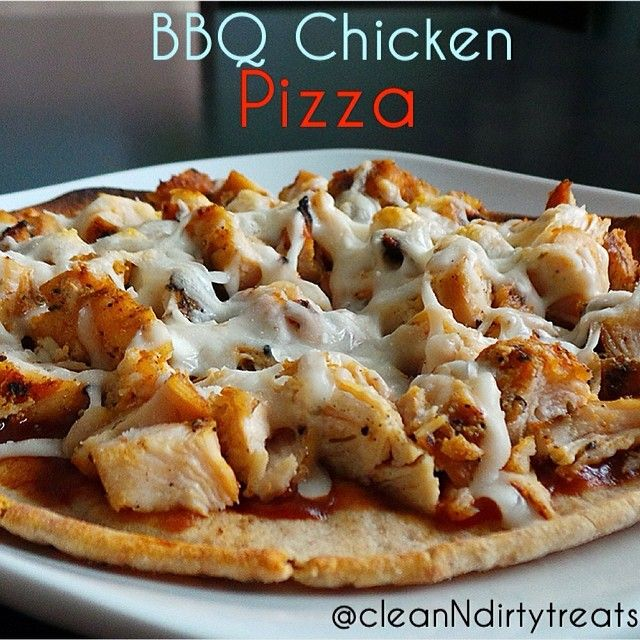 BBQ Chicken Pizza!! Leftover grilled chicken, chopped (I used 4.5 oz) Sugar Free BBQ sauce (I used 1.5 tbsp Paula's Deen's) 1- Joseph's Flax Oat Bran & Whole Wheat Pita Bread (4 net carbs) Fat Free Shredded Mozzarella (I used slightly less than 1/4c)  Put it all together and broil in the oven for 4 min. Slice and eat! BOOM  dinner done