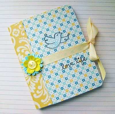 Christy Gets Crafty: Altered Mini Composition Notebook (video tutorial) - Lawn Fawn