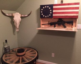 American Flag Made From Reclaimed Pallet Wood With Secret