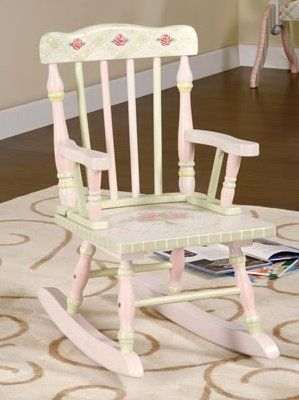 painted rocking chair ideas  Pink Crackle Girls Rocking Chair - Kids ...