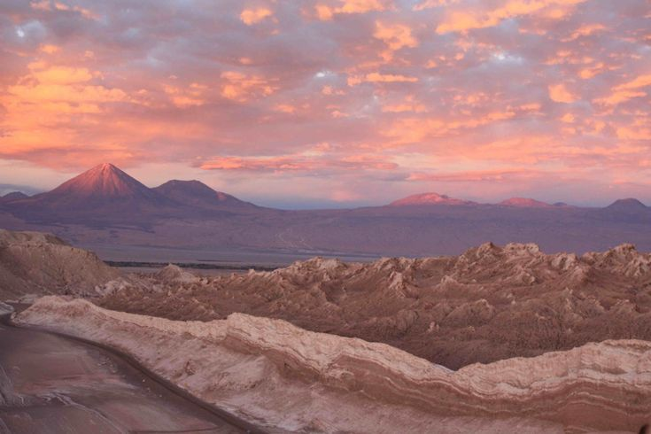 Sunset Over Valle de la Muerte, San Pedro de Atacama, Chile