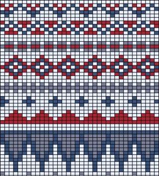 free knit fair isle chart knit pattern