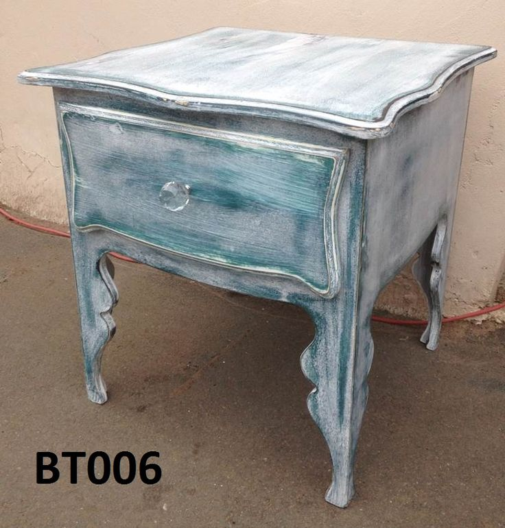 Bt06 Beach house look ,one drawer with crystal habdle.