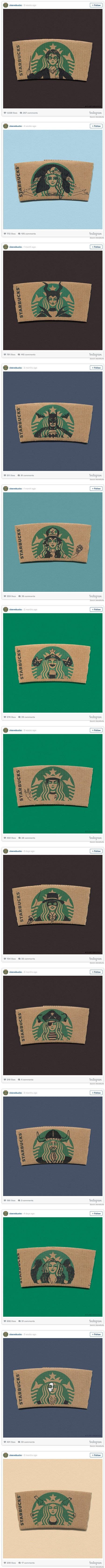 Starbucks Sleeves Get An Upgrade With Pop Culture Doodles.