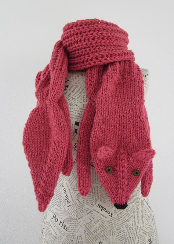 Knitting Pattern Fox Scarf : 16 best images about Fox Scarf on Pinterest Fox scarf, Scarves and Knitting