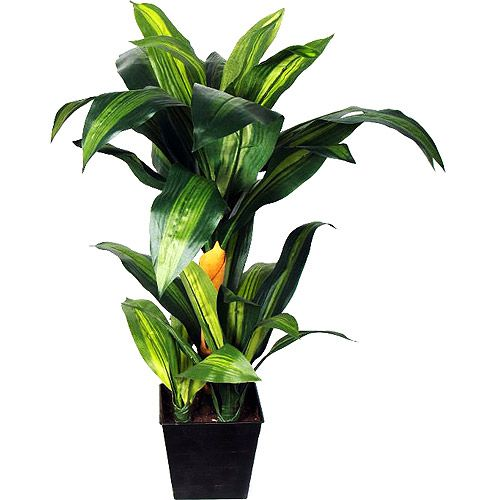 Faux tropical plants are a simple way to spruce up any stage design.