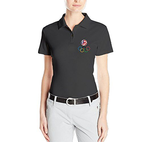 HAOXIN Womens Rio 2016 Olympics USA Volleyball Team Logo Polo T ShirtsTee *** Click image for more details.