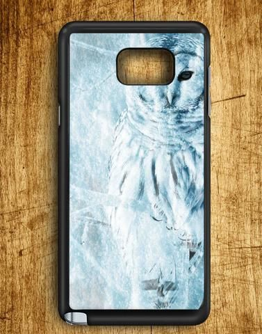 Winter White Owl Samsung Galaxy Note 5 Case