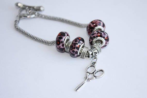 Scissors Charm Bracelet Hairstylist Bracelet Hairstylist - Three C Jewelry