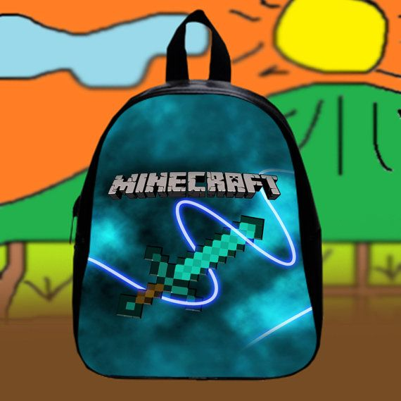 New Hot Minecraft  Custom SchoolBags Backpack for by KopiHitam55