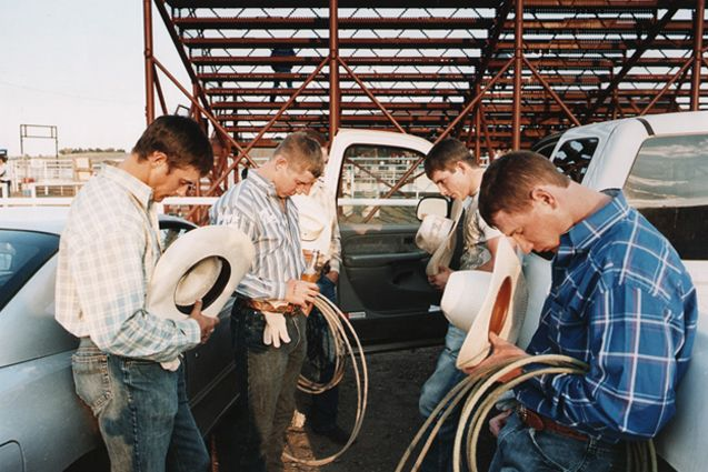 My Favorite Part Of Rodeos.. One Of The Few Sports Left That Still Says A Prayer Before It Starts. Love Itt.