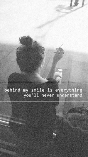 alternative, art, black and white, cool quotes, cute, dark, feelings, girl, grunge, hipster, indie, love, mystery, night, pale, photography, pretty, quotes, retro, rock, sad, sadness, soft grunge, tumblr, vintage, words, First Set on Favim.com, smile