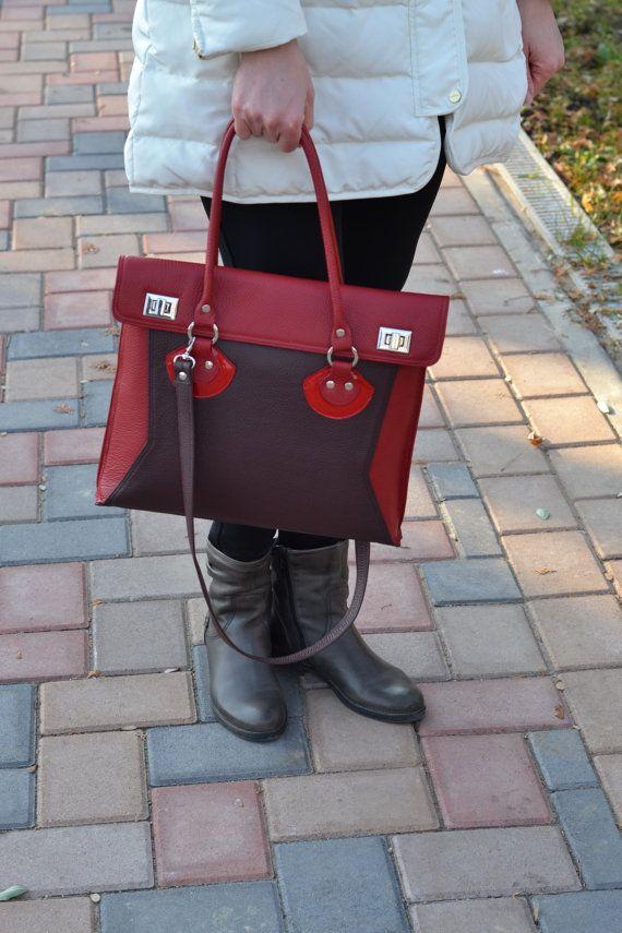 TOTE LEATHER Bag, Leather Shoulder Bag,Leather Purse