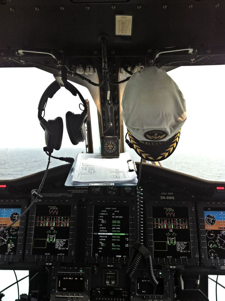 Inside the cockpit while refuelling on deck.