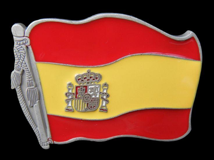 Spain Spanish Country Flag Belt Buckle #SPAIN #SPANISH #SPAINFLAG #hebilla #SPANISHFLAG #BELTBUCKLE