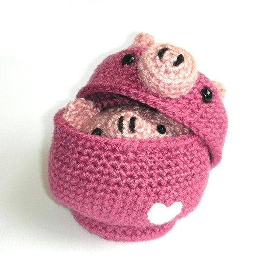 Crochet Pig Bowl Pattern