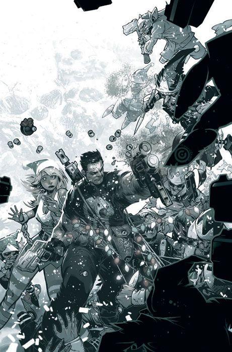 Chris Bachalo: Punisher Christmas 2008 Cover