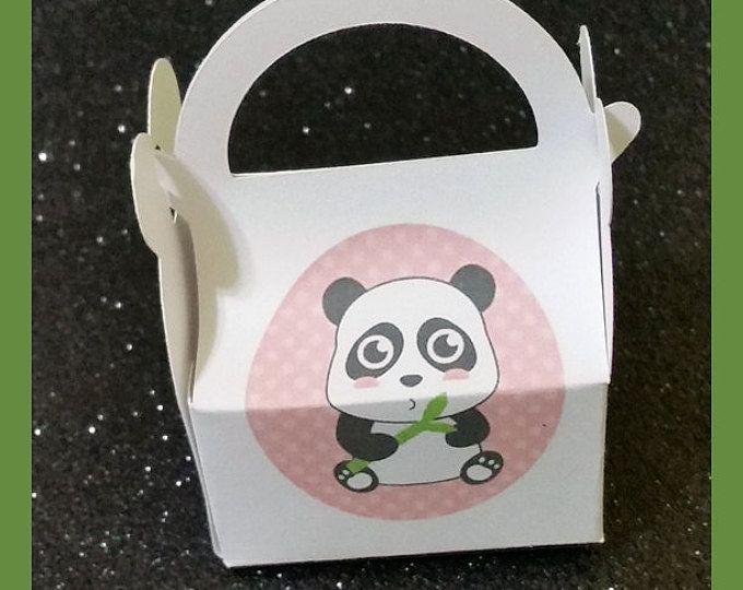 Panda partij gunsten, Panda gunst vakken, Panda verjaardag vakken, Panda babydouche