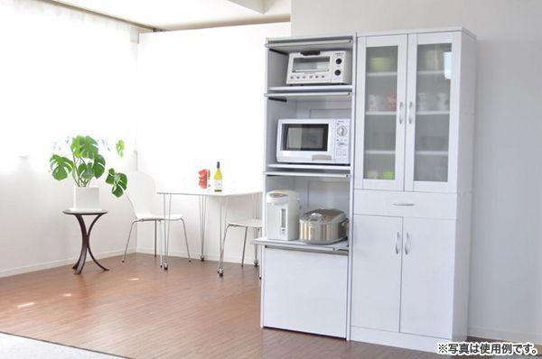 炊飯器収納 電子ジャー収納 キッチンラック 台所ラック フラップ扉