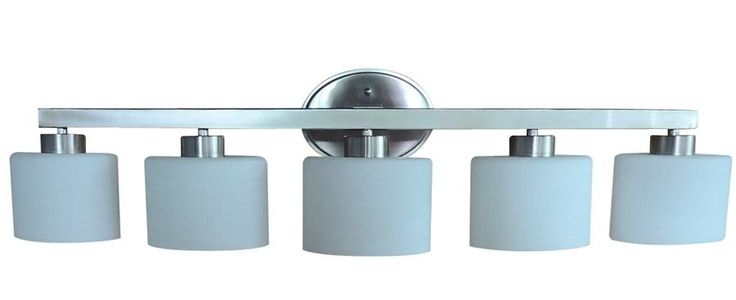 5-Light Brushed Nickel Vanity Light Bar Bathroom Wall Fixture Lighting Hardwired #AllenRoth #Transitional