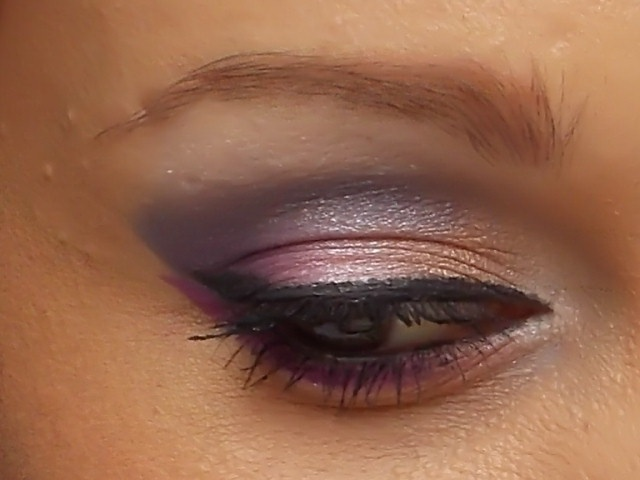 dettaglio occhi del mio trucco in collaborazione con, shades cosmetics
