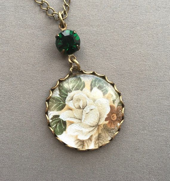 Rose Necklace Flower Necklace Rose Jewelry Flower
