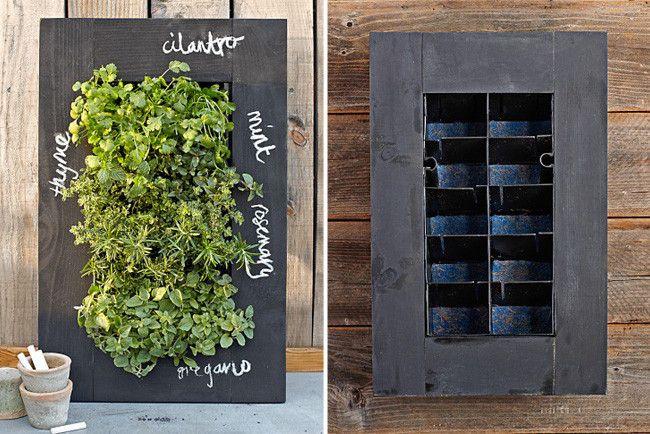 Un huerto urbano vertical para que tus plantas luzcan preciosas
