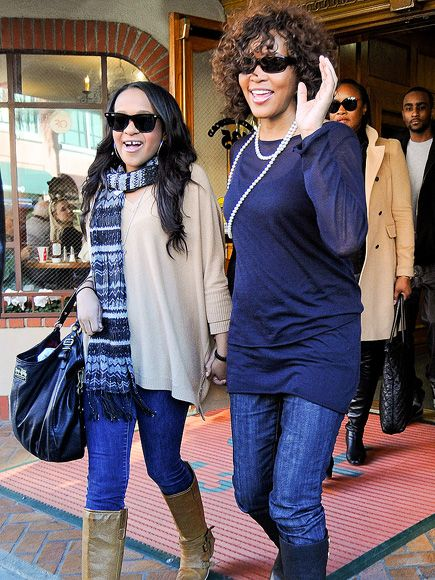 Bobbi Kristina Brown: Her Life in Photos | MOM & ME | One year before her mother's death, Bobbi Kristina joined her on an outing in Beverly Hills. Whitney's 2012 passing obviously hit the teen hard. The 18-year-old was hospitalized, suffering from a breakdown, after her mother's body was found in her Beverly Hills hotel room. Though she put on a brave face for the funeral and memorial services in the days that followed.