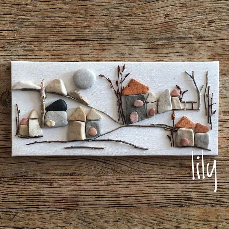 "90 Beğenme, 5 Yorum - Instagram'da 🌸Lily🌸 (@lily_ist): ""orda bir köy var uzakta serisi #minitaşlarım #pebbleart #minitaşlar#handcraft #handcrafted…"""