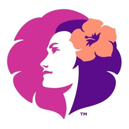 Flower in the hair like the,hawaiian airlines logo