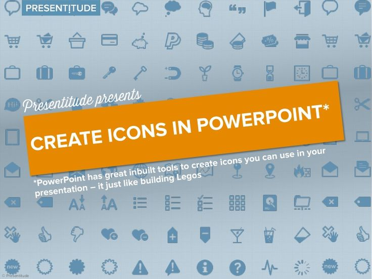 Using icons is a great way to add visuals to your presentation. There are many ways to get icons online, some are even free. But if you need a specific icon th…