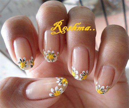 sunflower nail nails design art manicure spring