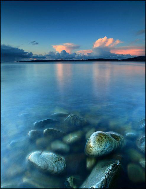 Snow Clouds and Sunset - Glenuig Bay, Glenuig, Scotland