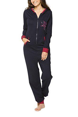 maluuna Women's Casual Jumpsuit Hooded Sleepwear Onesie Rompers Pajamas 100% cotton - http://www.darrenblogs.com/2016/12/maluuna-womens-casual-jumpsuit-hooded-sleepwear-onesie-rompers-pajamas-100-cotton/