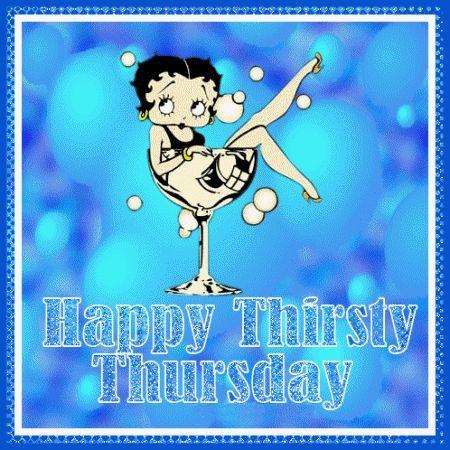 Happy Thirsty Thursday days betty boop days of the week thursday weekdays thirsty happy thursday thursday greeting thursday gif