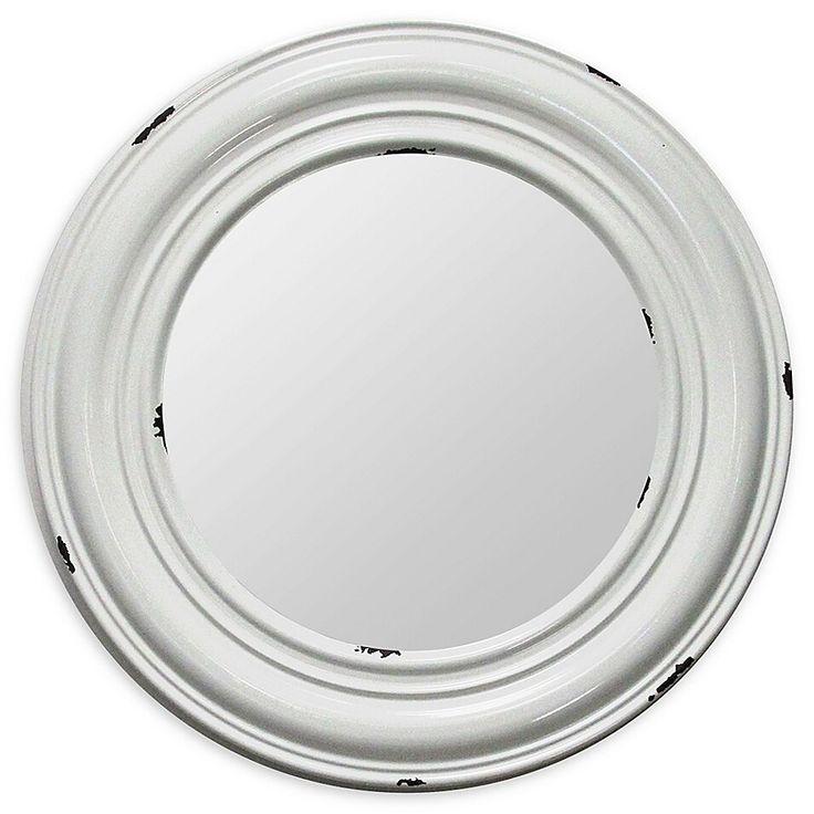 """Stratton Home Décor Priscilla 24.75"""" Round Wall Mirror In"""
